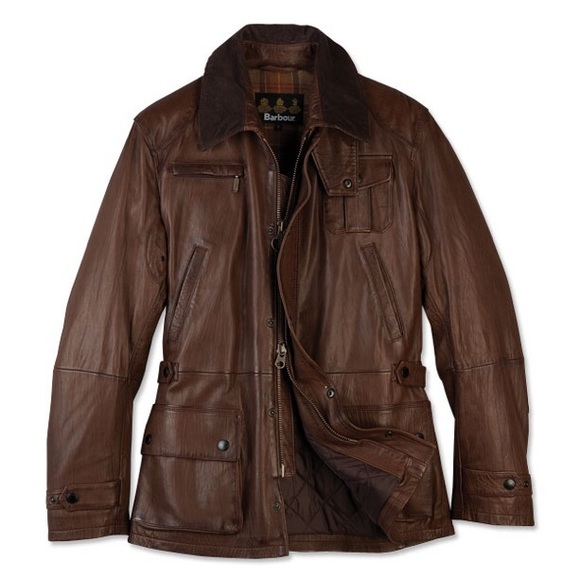00bcb88c1 Barbour Engineered Bushman Leather Jacket